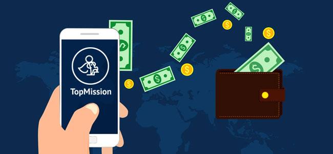 Начисление оплаты на TopMission