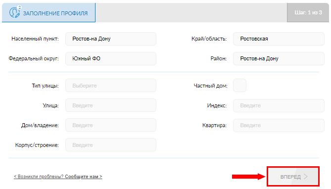Заполнение профиля на Gfk SmartScan