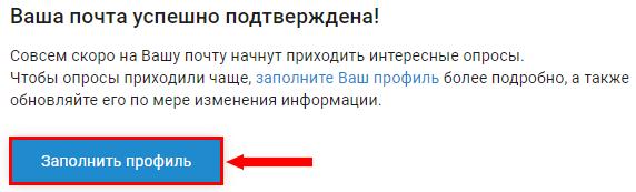 Указание информации о себе на сайте InternetOpros