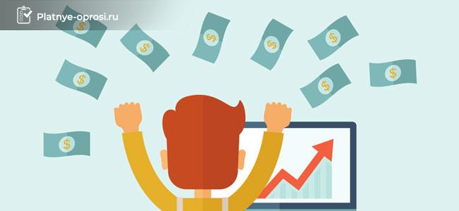 Начисление оплаты за прохождение опросов